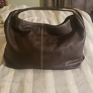 Coldwater Creek Large Brown Leather Bag